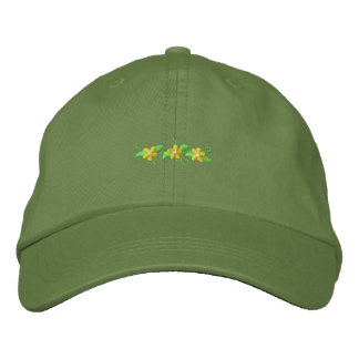 Daisy Accent Embroidered Baseball Caps