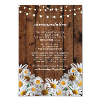 Daisy Accommodation Wood Lights Wedding Cards