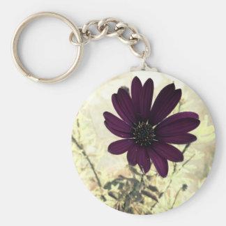 daisy african purple keychain