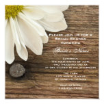 Daisy and Barn Wood Country Bridal Shower Invite