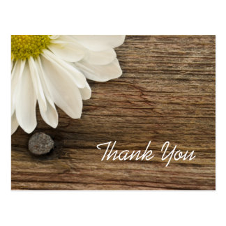 Daisy and Barn Wood Country Thank You Postcard