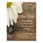 Daisy and Barn Wood Country Wedding Save the Date Magnetic Card