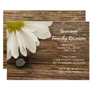 Daisy and Barn Wood Family Reunion Invitation