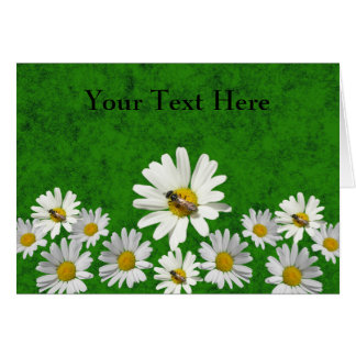 Daisy and Bee Template card