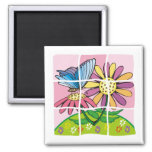 Daisy and Butterfly Magnets