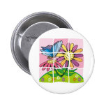 Daisy and Butterfly Pinback Buttons