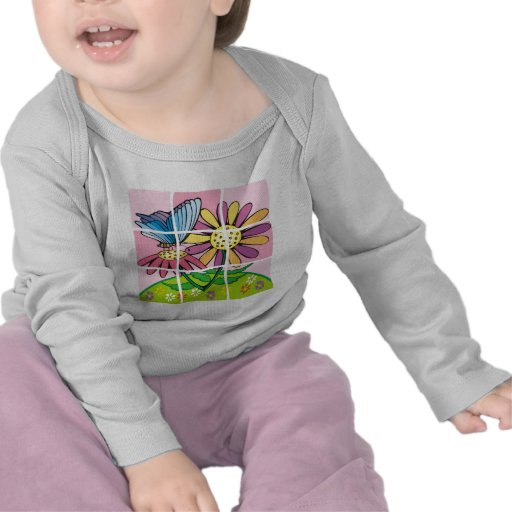 Daisy and Butterfly T Shirt