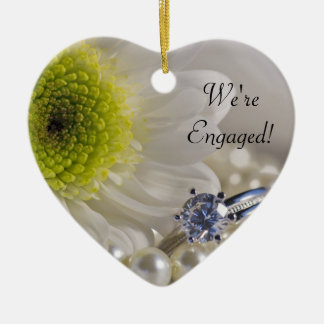 Daisy and Diamond We're Engaged Ornament