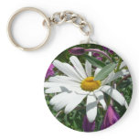 Daisy and Fireweed Keychain