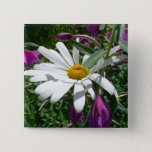 Daisy and Fireweed Pinback Button