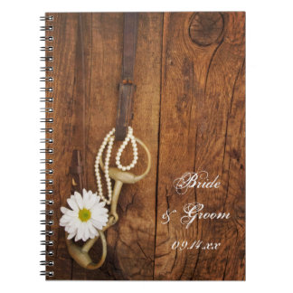 Daisy and Horse Bit Country Wedding Notebook
