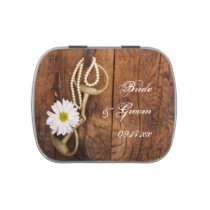Daisy and Horse Bit Country Western Wedding Favor Jelly Belly Tin