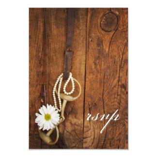 Daisy and Horse Bit Western Wedding RSVP Card