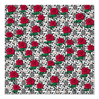 Daisy and Rose Art Card