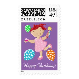 Daisy And Sam Cupcake Balloons Birthday Postage Stamp