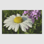 Daisy and Summer Lilac Rectangular Sticker