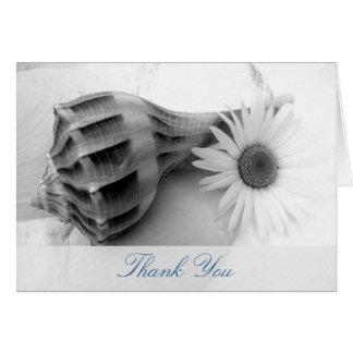 Daisy and Whelk Seashell, Blank Note Cards
