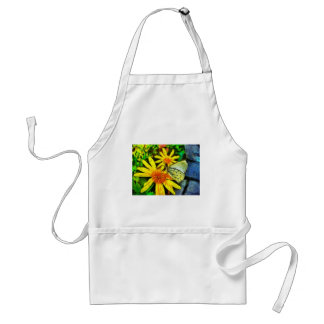 Daisy and White Butterfly Adult Apron