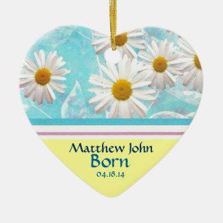 Daisy April Birth Announcement Ornament