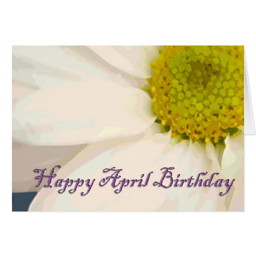 April Birth Flowers Beautiful: Daisy April Birth Month Flower Stationery Note Card