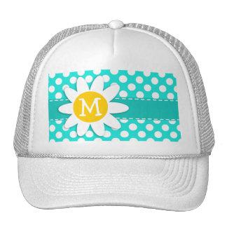 Daisy; Aqua Color Polka Dots Trucker Hat