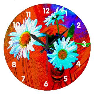 Daisy Art Large Clock