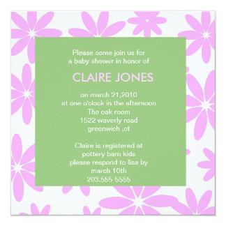 daisy baby shower invitation