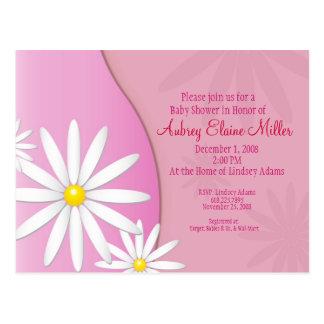 Daisy Baby Shower Invitation Postcard