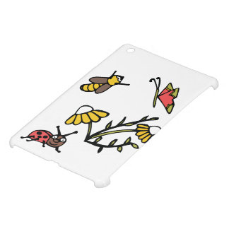 Daisy, Bee, Butterfly and Ladybug iPad Mini Covers