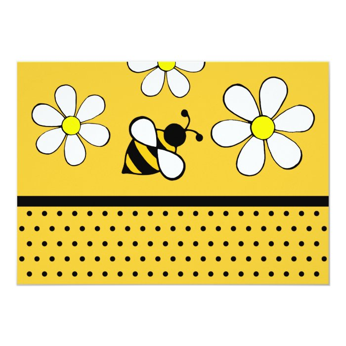 Daisy Bee Invitations