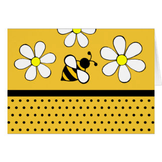 Daisy Bee Thank You Notecards Card