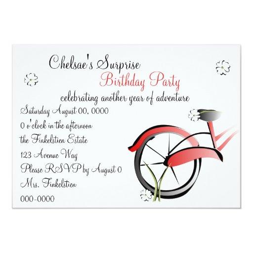 Daisy Bike Ride 5x7 Paper Invitation Card