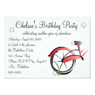 Daisy Bike Ride 5x7 Paper Invitation Card