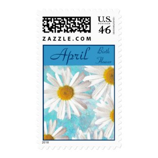 Daisy Birth Flower Postage Stamps - APRIL