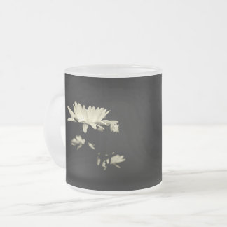 Daisy - Black and White Frosted Glass Coffee Mug