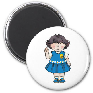 Daisy Black Hair Magnet