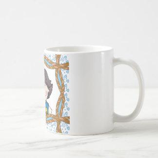 Daisy Black Hair Classic White Coffee Mug