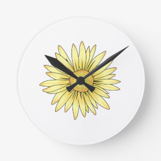 DAISY BLOOM ROUND CLOCK