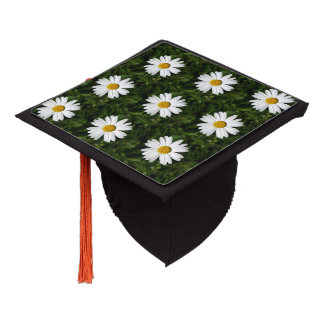 Daisy Bloom seamless pattern + your ideas Graduation Cap Topper