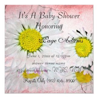 Daisy Blossoms Baby Shower Invitation