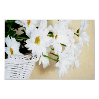 Daisy Blossoms Elegant Chic Mod Floral Poster