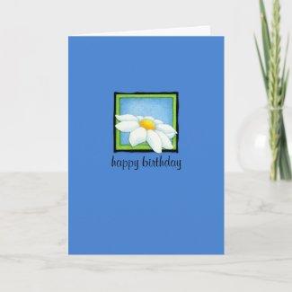 Daisy blue Birthday Card card