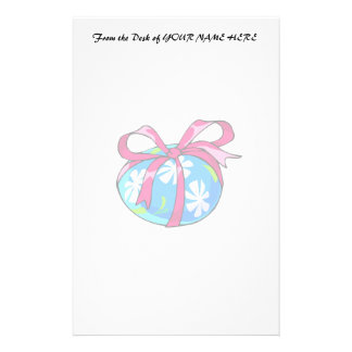 daisy blue egg red ribbon.png stationery