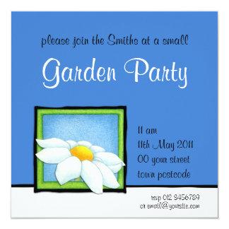 Daisy blue Garden Party Invitation