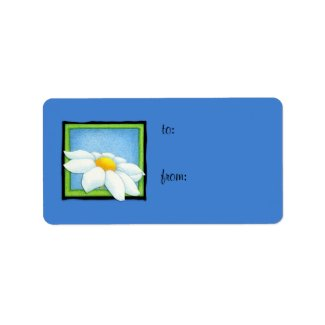 Daisy blue Gift Tag Label label