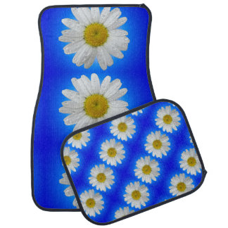Daisy Blue Glow Car Mats