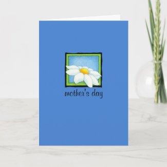 Daisy blue Mother's Day Card card
