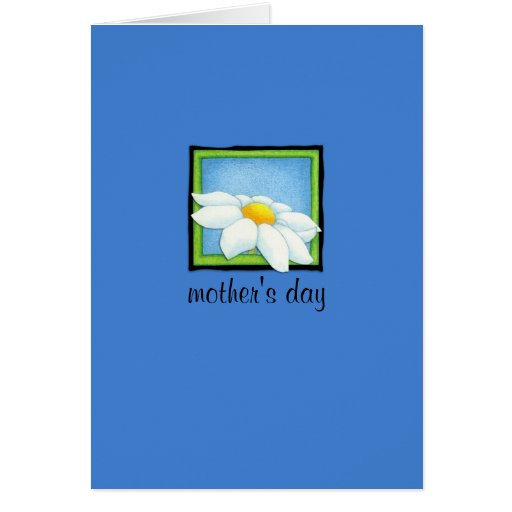 Daisy blue Mother's Day Card