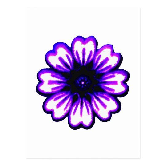 Daisy Blue Purple transp The MUSEUM Zazzle Gifts Postcard