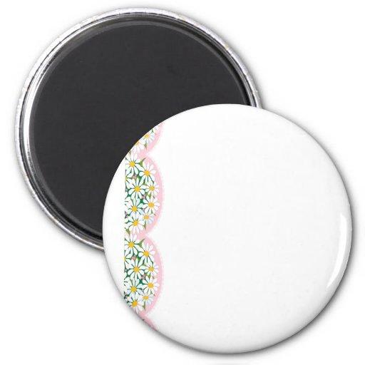 Daisy Border 2 Inch Round Magnet